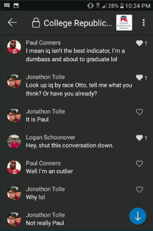 OU College Republicans leaked chat