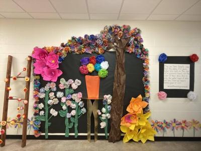 Southgate Elementary School paper flowers
