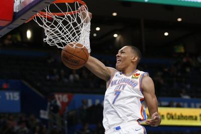 OKC Thunder:Amidst blowout, Paul takes time to offer Bazley wisdom, pointers