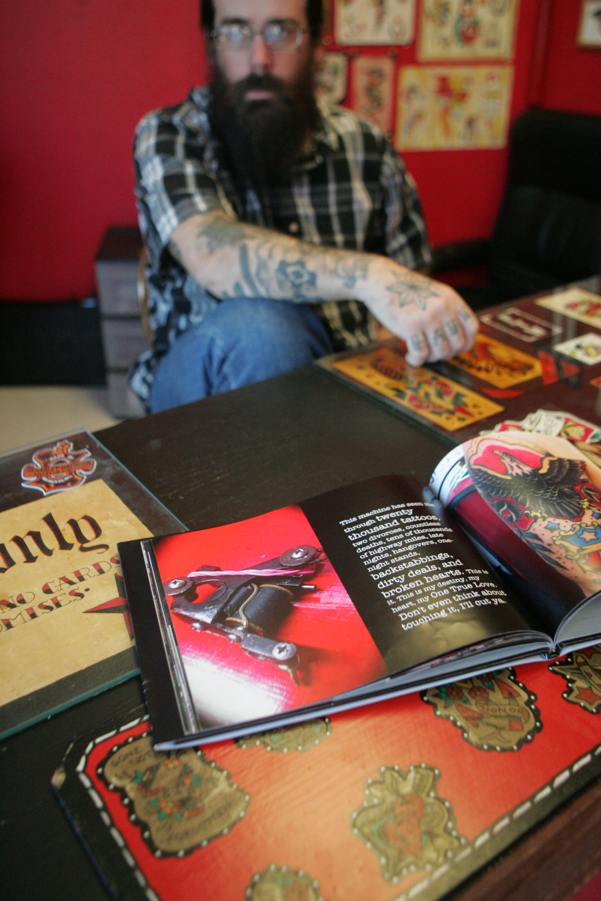 Frank robinson leaves mark on tattoo industry business for Tattoo shops in norman