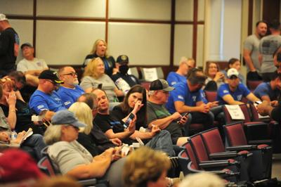 City council meeting NPD supporters