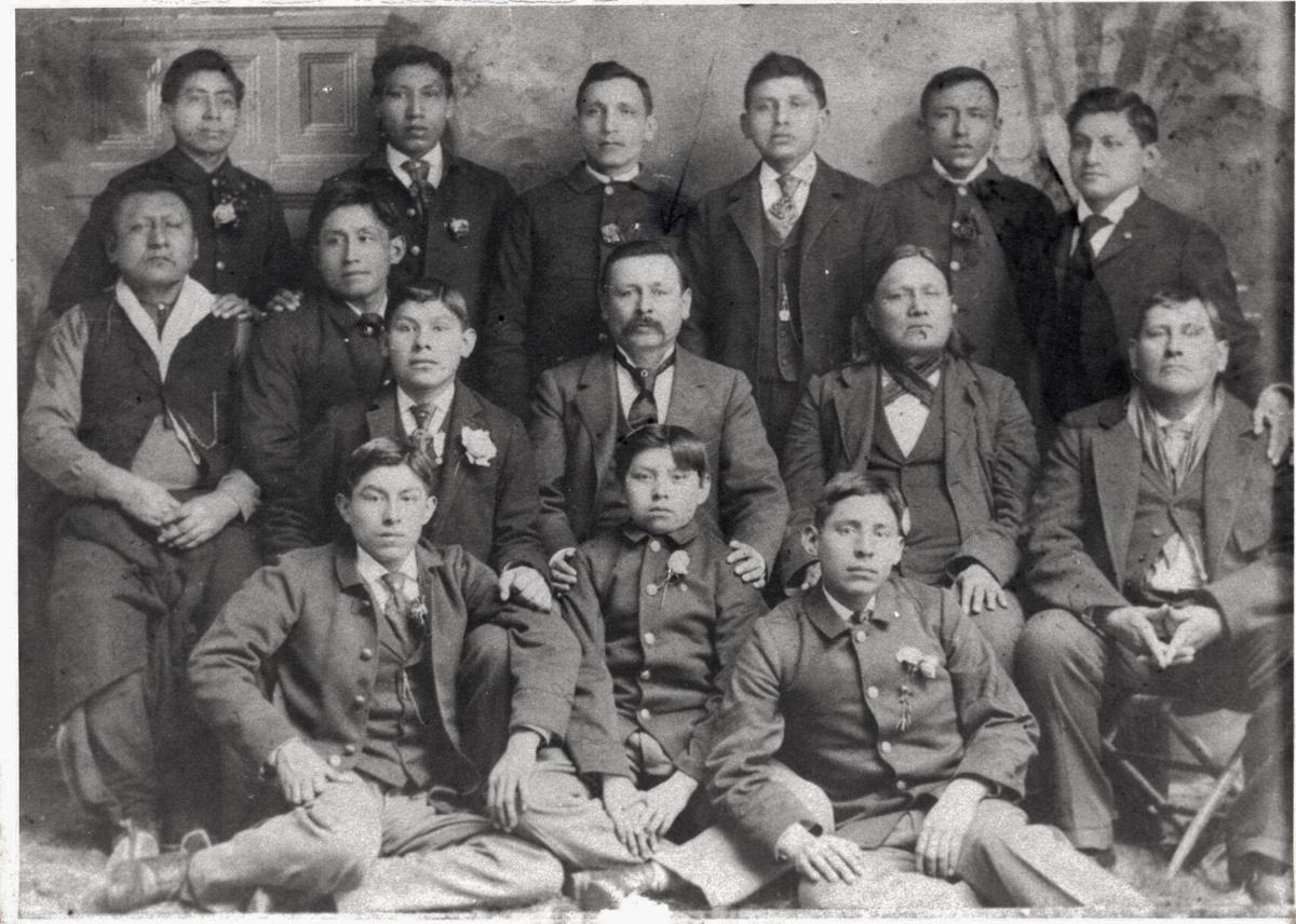 Osage tribal members