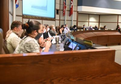Councilmembers at Tuesday's city budget meeting