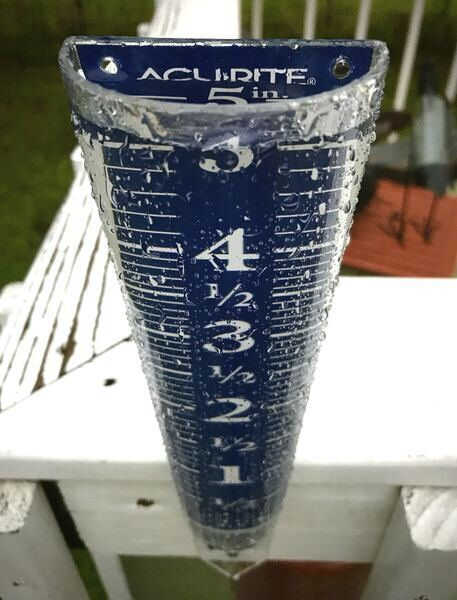 Overnight thunderstorms rattle windows, dump more than five inches of rain