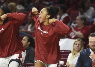 OU women's basketball: Ashlynn Dunbar finding her footing since joining team after volleyball season