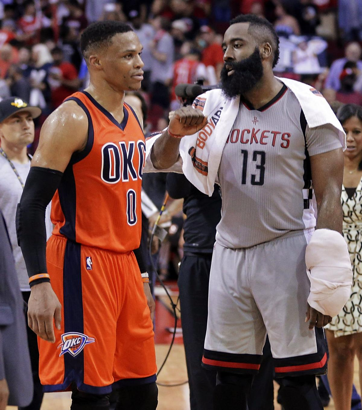 Houston Rockets Vs Okc: ThunderNotes: Westbrook Appreciates Friendship With Harden