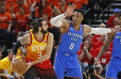 Russell Westbrook guarantees he ll shut Ricky Rubio off after Game 3 loss  to Jazz 64671491e