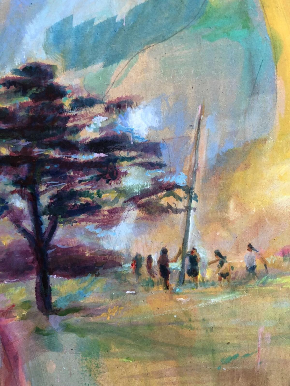 Stickball painting