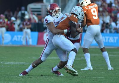Oklahoma Safety Kahlil Haughton Makes A Tackle During The Red River Rivalry Last October At Cotton Bowl In Dallas Texas