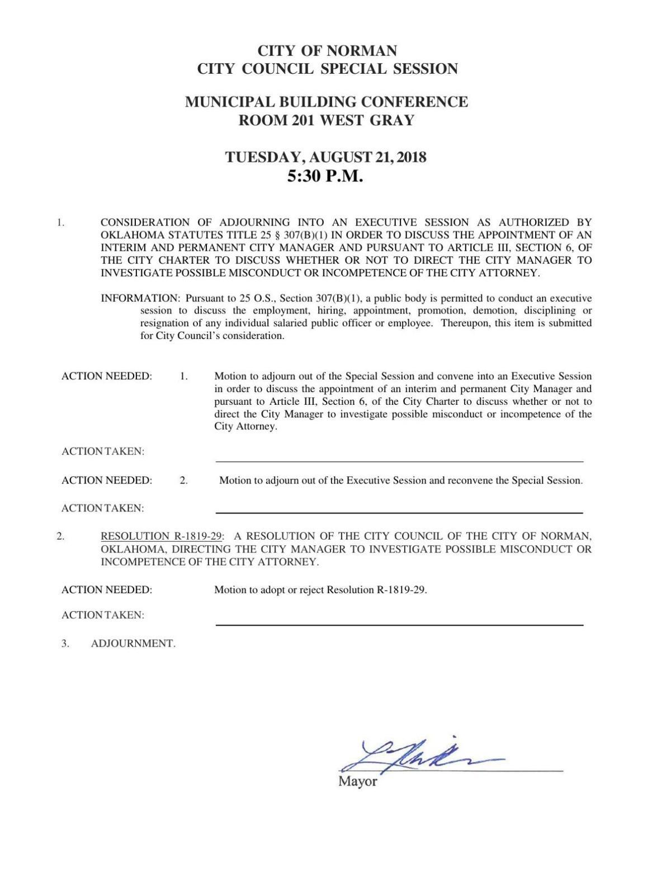 Aug. 21 city council agenda