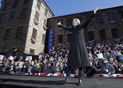 Warren makes presidential bid official