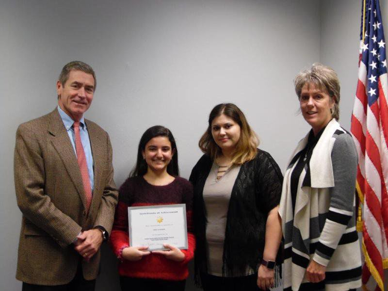 Nhs Student Receives National Recognition Education