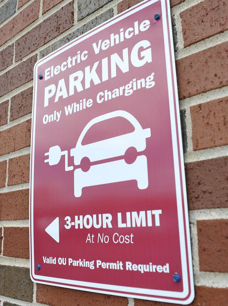 Ou Installs Free Electric Car Charging Station For Faculty Staff And Students