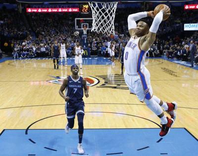 THUNDER: Westbrook can join Chamberlain in historyat Rockets