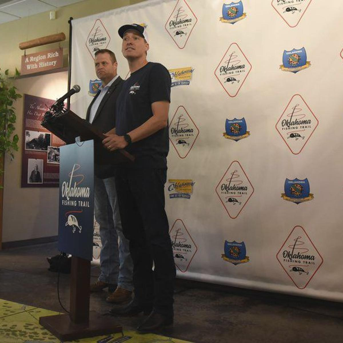 Gone fishing: state's Lt  Gov  kicks off Oklahoma Fishing Trail
