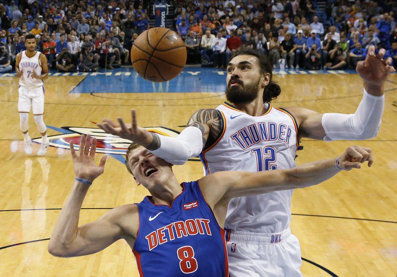 image about Detroit Pistons Printable Schedule identified as THUNDER: Pistons pull absent at the close, demolish OKC preseason