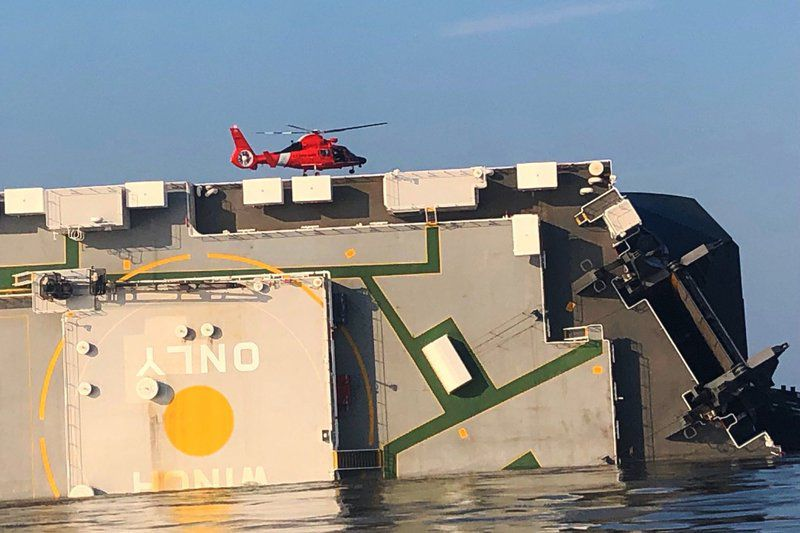 Final crewman pulled alive from capsized ship