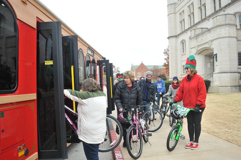 OU 'fills trolley' during its annual Christmas toy drive across campus