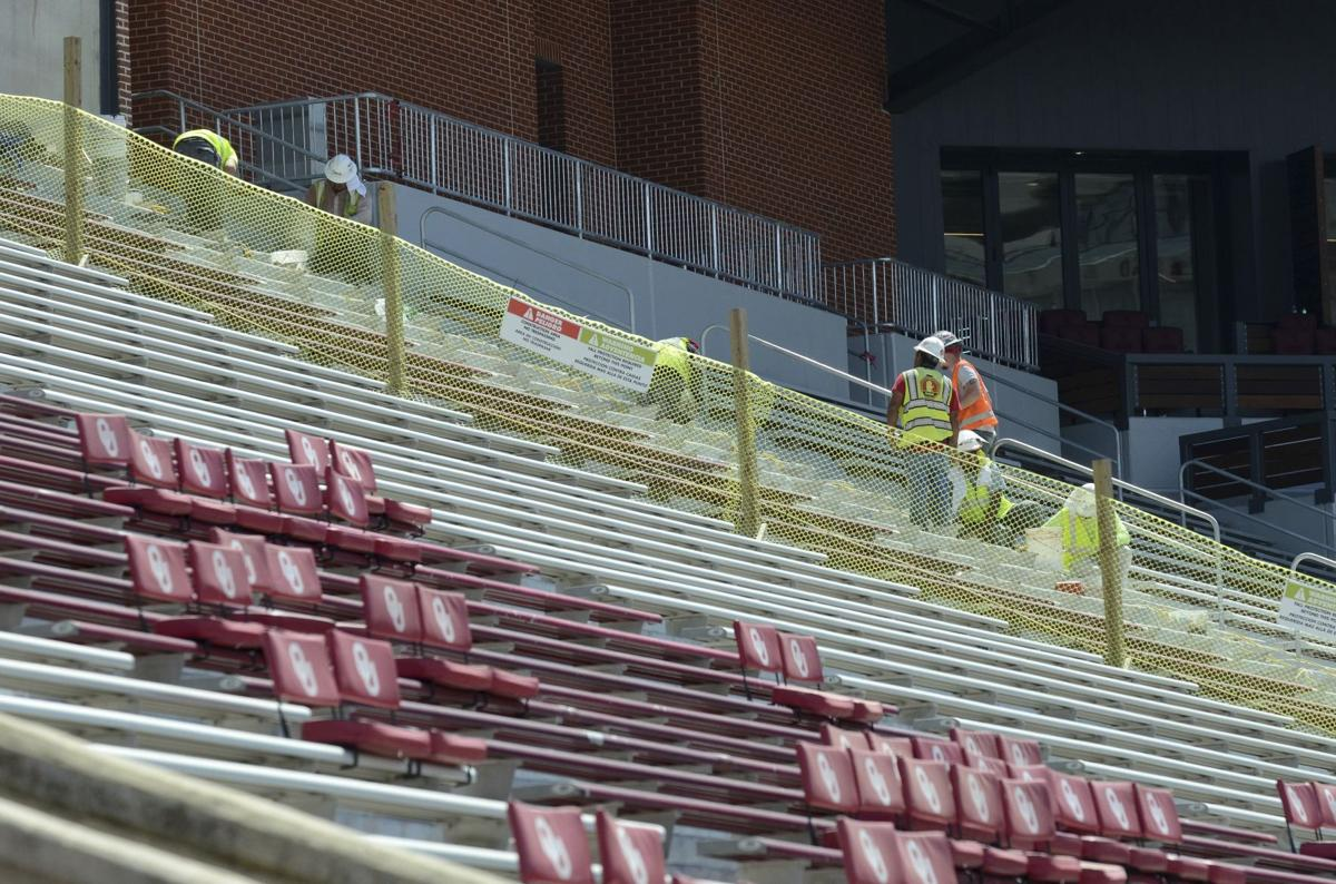 Oklahoma stadium on schedule for first home football game