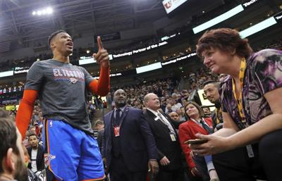 THUNDER: Westbrook fined, not suspended; Jazz fan barred from arena