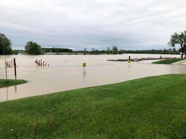 Maumee River boat dock