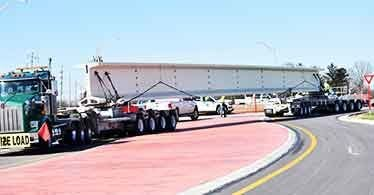 Bridge beam delivered