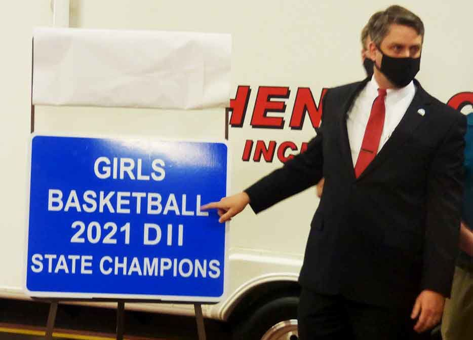 New state champion sign unveiled
