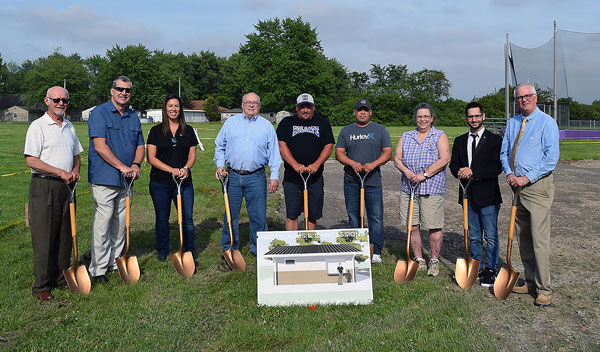 Groundbreaking for Holgate's new restroom/concession building