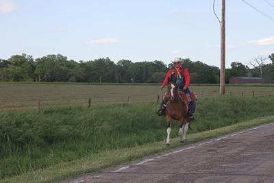 Riders reenact Pony Express