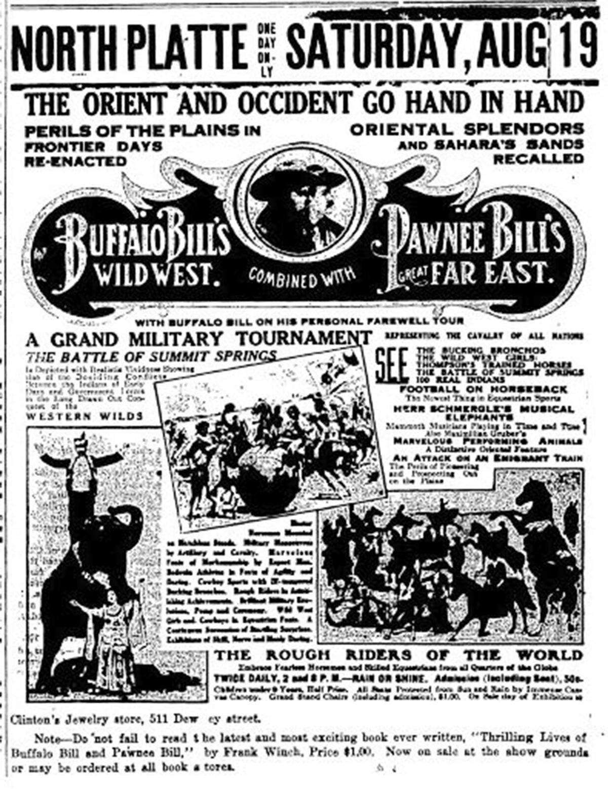 Ad for Wild West Show in NP, NPT, 8-10-1911, p. 6.JPG