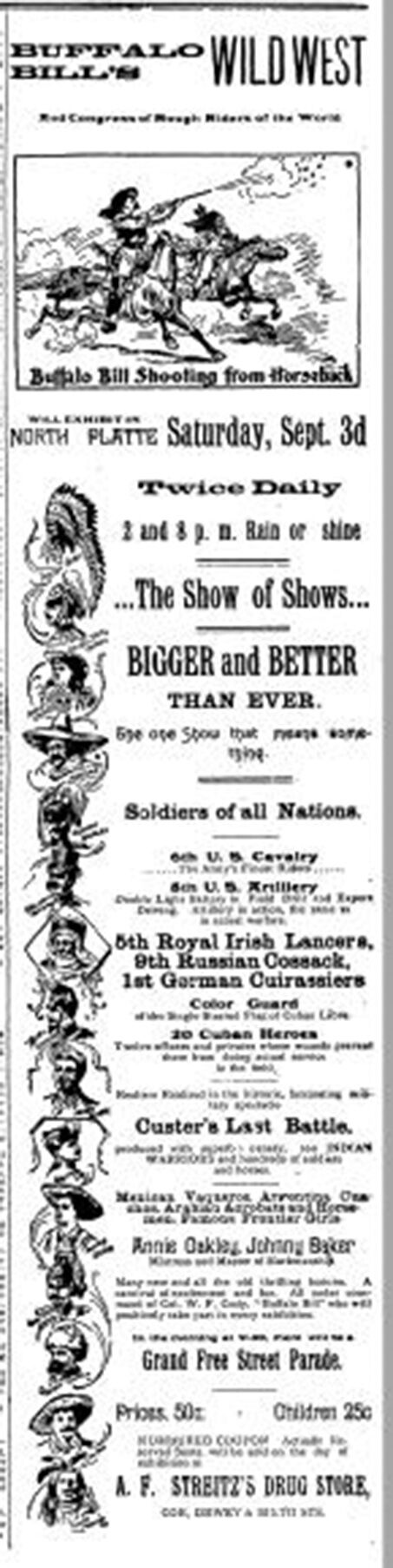 Ad for Wild West Show in NP, NPT, 8-20-1898, p. 5.JPG