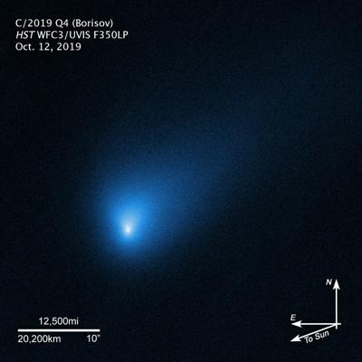 An alien comet from another star is soaring through our solar system
