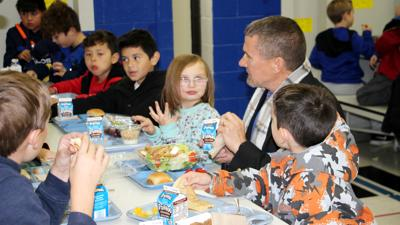 North Platte veterans, from across the branches of the military, had lunch with students at Washington Elementary on Thursday
