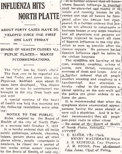 In another century: How influenza swept through North Platte in 1918