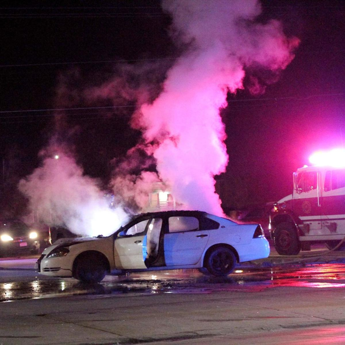Fire crews douse car fire on Rodeo Road | Local News