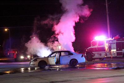Fire crews douse car fire on Rodeo Road