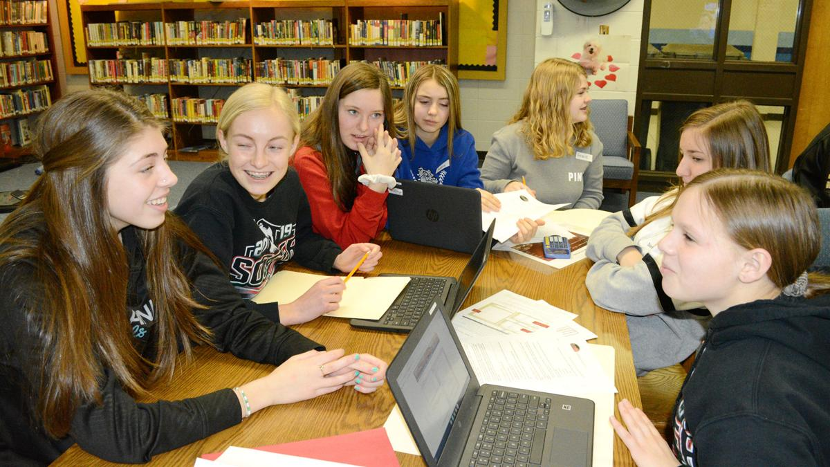 Adams Middle School students travel to Mars in problem-solving simulation