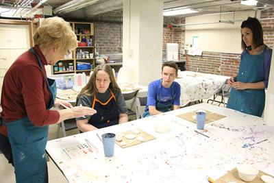 Students with disabilities get creative with clay at the Prairie Arts Center