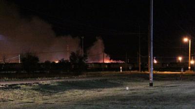 Fire crews battle blaze at Bailey Yard