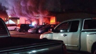 After being called to one fire, crews spot a second, bigger fire Friday in North Platte
