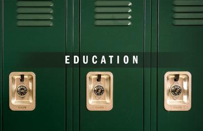 Education logo 2020 with lockers