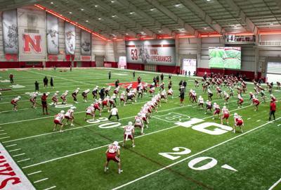 Nebraska football practice, 4.7