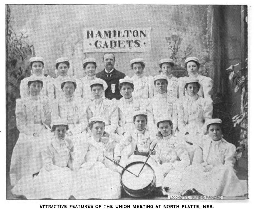 10-10 Photo of 1898 Hamilton Cadets and director WH Hamiltom B of LF and Es Magazine.jpg