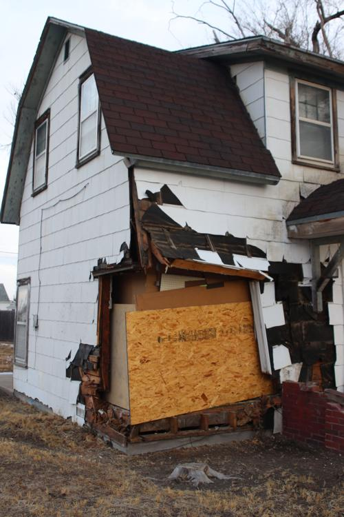 Car runs into house on North Platte's west side