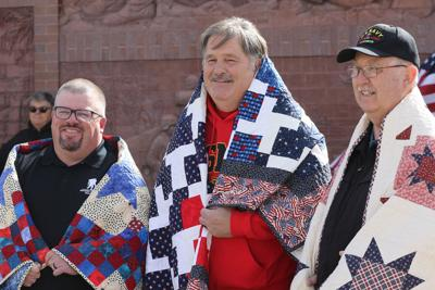 Three receive Quilts of Valor at 20th Century Veterans Memorial in North Platte