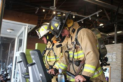North Platte firefighters retrace steps of first responders by climbing 110 flights on stairstepper
