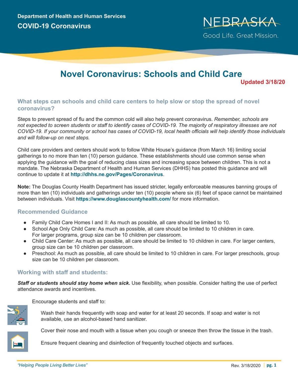 Schools and Child Care
