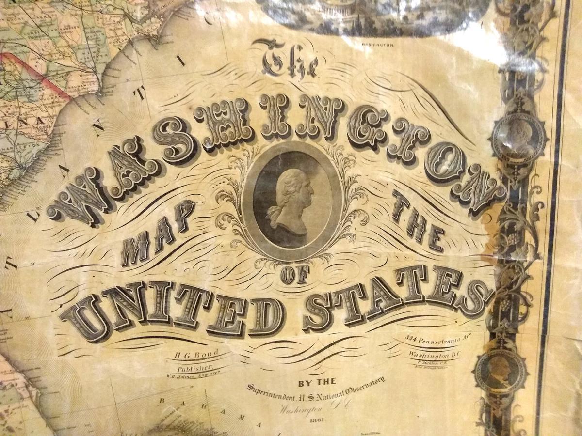 1. Main label of 'Washington Map' of US, 1861, 6-27-2020.jpg