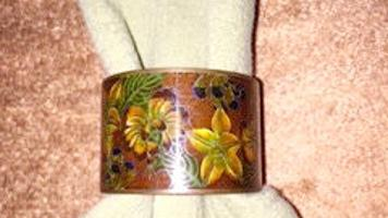 Steele: Vintage cloisonné napkin rings become fun collectibles
