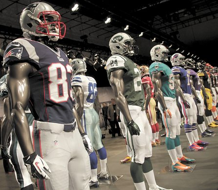 197ba038aa8 Nike unveils new  12 NFL uniforms